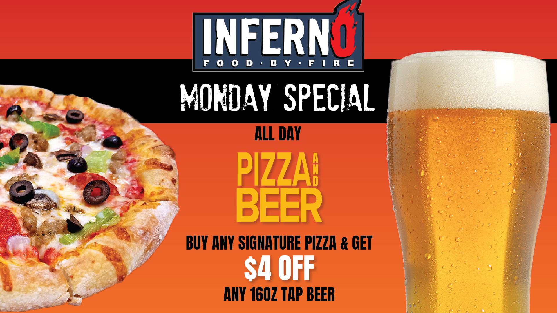 Monday Pizza & Beer Special